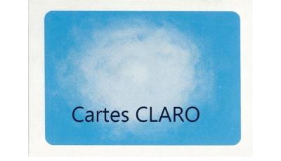 Cartes CLARO par Moritz EGETMEYER