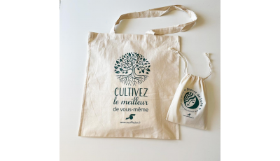 Pack tote bag + pochon 100% coton bio